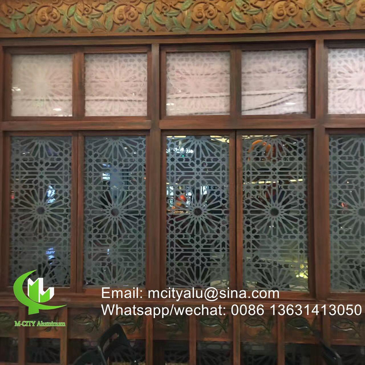 Aluminum perforated sheet for window screen room divider fence with 2mm thickness laser cut screen Manufactures