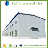 China prefabricated large span cement steel structure workshop space design on sale