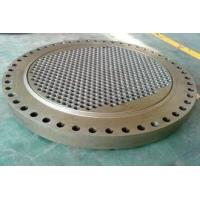 Custom Carbon Steel Heat Exchanger Tube Plate For  Dyeing Machine Manufactures