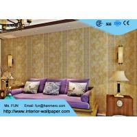 0.53*10 Living Room Asian Themed Wallpaper / Asian Style Wallpaper Beige Color Manufactures
