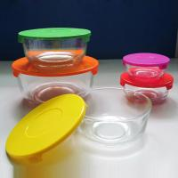 high quality clear glass bowl with plastic lid, salad bowl, fresh bowl for sale Manufactures