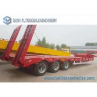 Load Capacity 45 T 50 T 3 Axles semi truck trailer Lowbed Hydraulic Legs Manufactures