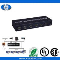 Black Switch box of 2 input 4 output hdmi splitter Manufactures