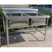 China Corrosion Resistant Stainless Steel Display Racks Double Bowl Kitchen Sink on sale