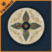 China Natural Marble Floor Waterjet Medallions With Surface Polished For Home wholesale