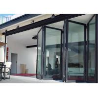 China LYS Soundproof Aluminium Bi Folding Patio Doors Easy Clean For Room Dividers wholesale