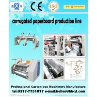 2 Layer Corrugated Paperboard Making Machine 0 - 60 m / min With Clamping Arm Manufactures