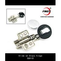 China Slide on soft close glass hinge on sale