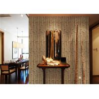 Bamboo 264g / m2 living Interior Room Wallpaper CE / ISO / SGS / CSA Manufactures