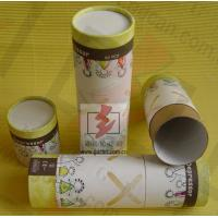 Food Grade Cylinder Cardboard Box / Round Tube Packaging For Food