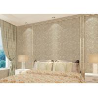 Floral decoration contemporary bedroom wallpaper , Nonwoven modern wallpaper for bedroom Manufactures
