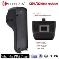 Customized 4G Android Barcode Scanner Device , Rugged Portable Fingerprint Scanner Manufactures