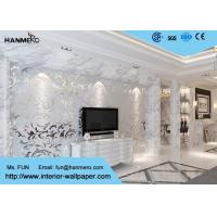 China 3D Design Silver Grey European Modern Wallpaper for Bedrooms TV Background wholesale