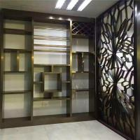 China Interior Design partition wall stainless steel panel in bronze finish on sale on sale