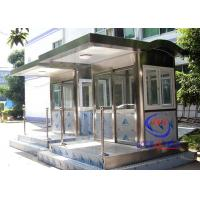 China Waterproof Rustproof Sentry Box , Entrance / Exit Factory Security Guard Booths wholesale