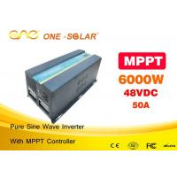 One Pure sine wave dc 48v ac 220v 1000w 2000w 5000w 6000w power solar inverter with controller Manufactures