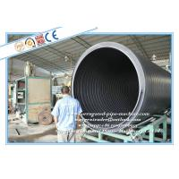 HDPE Large Diameter Hollow Wall Winding Pipe Manufacturing Machine / Extrusion Line Manufactures