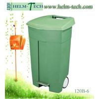 Wheeled Industrial Trash Can with Pedal