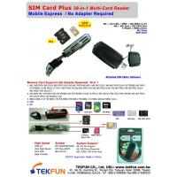 China SPC-04: SIM & M2 Card Plus, 39-in-1 Flash Multi Card Reader - USB Mobile Express, Supports for most SD, mini SD, MMC, RS-MMC (4.0), MS, MS Duo, MS PRO Duo, T-Flash, micro SD, micro SD, MMC Micro, M2 Card, and SIM Card...etc on sale