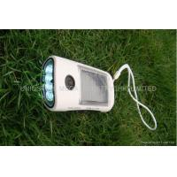 China Portable Solar Mobile Charger Flashlight FM Radio Solar Battery Charger Black wholesale
