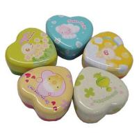 Mini tin box with heart shape Manufactures