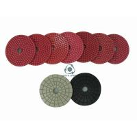 China Bright red wet polishing pads on sale