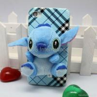 China Stereo various 3D lint cartoon hard case for iphone 4G 4S wholesale