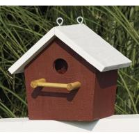 China Plain Birdhouse - Red with white trim wholesale