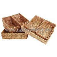 China Willow wicker vegetable & fruit display baskets wholesale