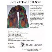 China Needle Felt Instructions for Silk Scarf, Hat or Purse wholesale