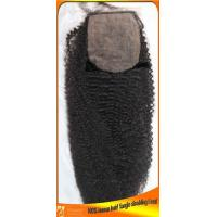 China Afro Curl Brazilian Silk Top Closures in Stock,4x4 wholesale