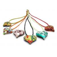 China MURANO GLASS HEART 40X33 MM - MIXED COLOURS on sale