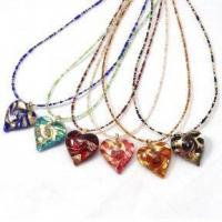China Murano Glass Jewelry Heart Necklace on sale