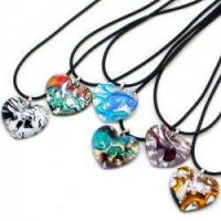 China Heart Pendants Murano Glass Heart Pendant on sale