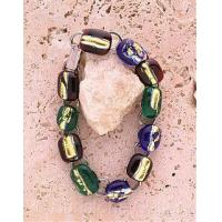 China Colorful Dichroic Glass Bracelet on sale