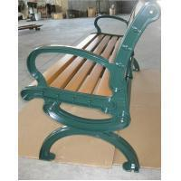 Green Aluminium Frame WPC Bench For Playground / Street / Public Place Manufactures