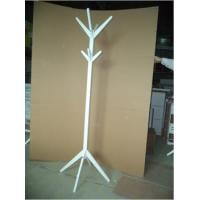 China rack series white wooden stand clothes hanger display rack,round rotating clothes ... wholesale