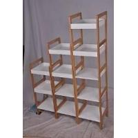 Bamboo Furniture three layer white box bamboo shelf Manufactures