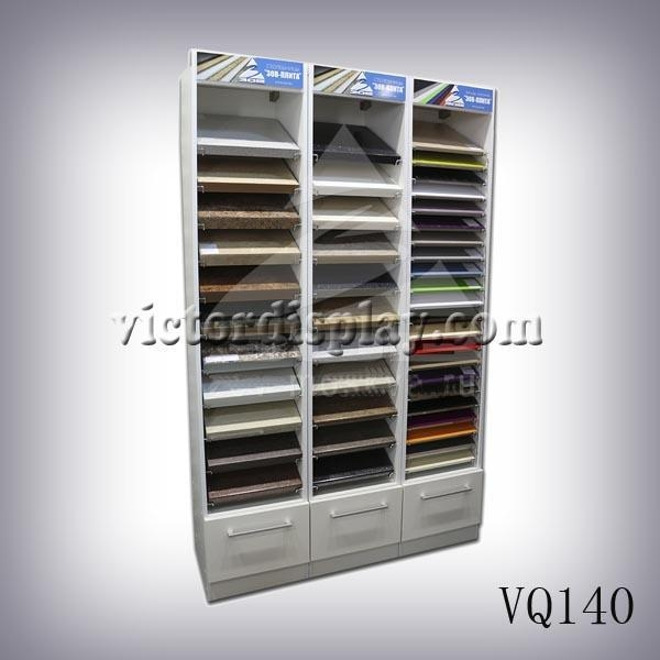 Quality VQ140 stone showroom display rack for sale