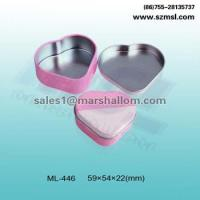 Tin box for food heart shape candy box ML-446 Manufactures
