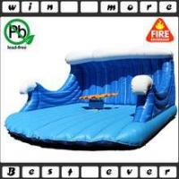 China inflatable mechanical rodeo surfboard ride for adult game, inflatable game for sale wholesale