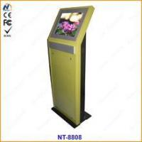 Single Screen queue management electronic Terminal Touch Kiosk Manufactures