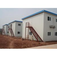 China Double storeies flat roof prefabricate house on sale