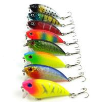1PC 3D Minnow fishing lures 6# Hook Fishing bait 5.5cm/5.6g 8 colors fishing tackle