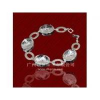 China China Fashion 925 Sterling Silver jewelry Charm Bracelet With Big CZ Stone Wholesale Price wholesale