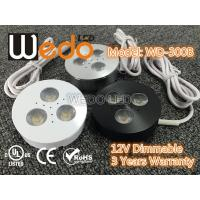China WD-300A 12V 3W LED Cabinet Light / LED Puck Light with CE cUL UL Certified wholesale