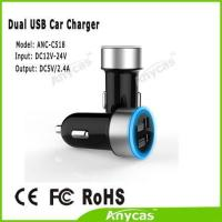 Anycas brand Best gift for customer Dual USB car charger 5V 2.4A car battery charger for iphone ipad