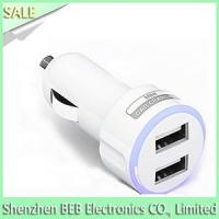 China 5V 2.1A light up dual usb car charger wholesale