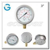 """China 3"""" Capsule low stainless steel brass internal bottom connection bellows type pressure gauges wholesale"""