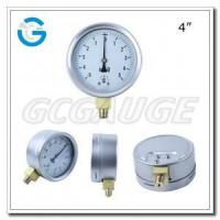 China Mbar pressure gauges 4 Inch Capsule low stainless steel brass internal gauges with bottom connection wholesale